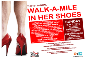 Walk a mile in her shoes charity event