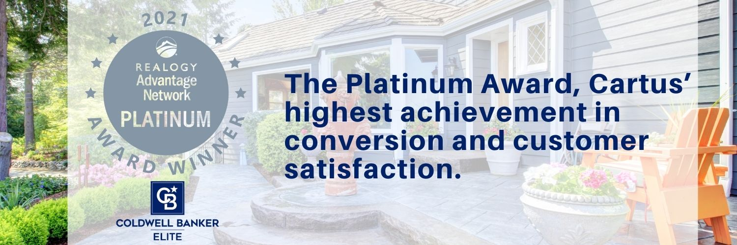 The Platinum Award, Cartus' highest achievement in conversion and customer satisfaction.